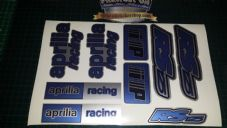 Aprilia RS125 DECALS STICKERS 3COLOUR Blue Black Silver RS 125 Racing IP 9 piece